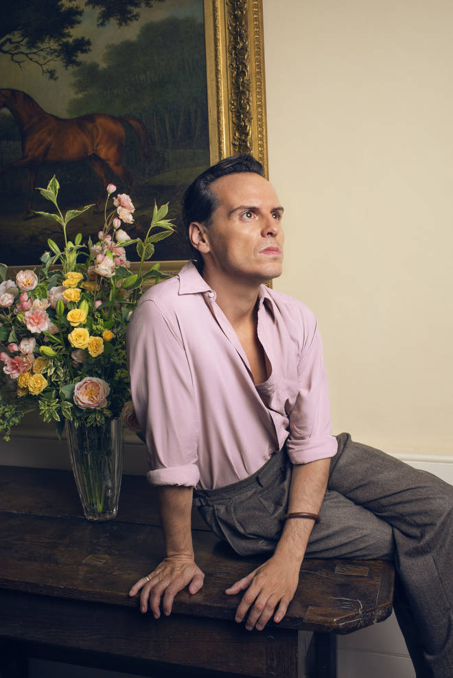 Andrew Scott as Lord Merlin in The Pursuit of Love