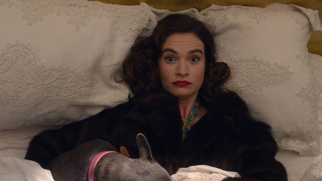 Lily James as Linda Radlett in The Pursuit of Love