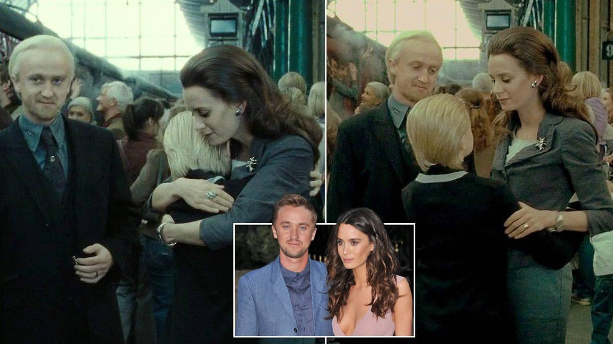 Harry Potter fans are just realising Tom Felton's girlfriend starred alongside him in the last film - Heart