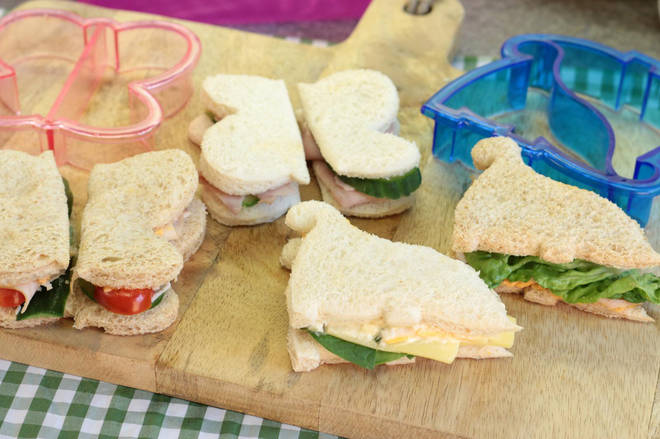 Make fun shapes with your kids sandwiches