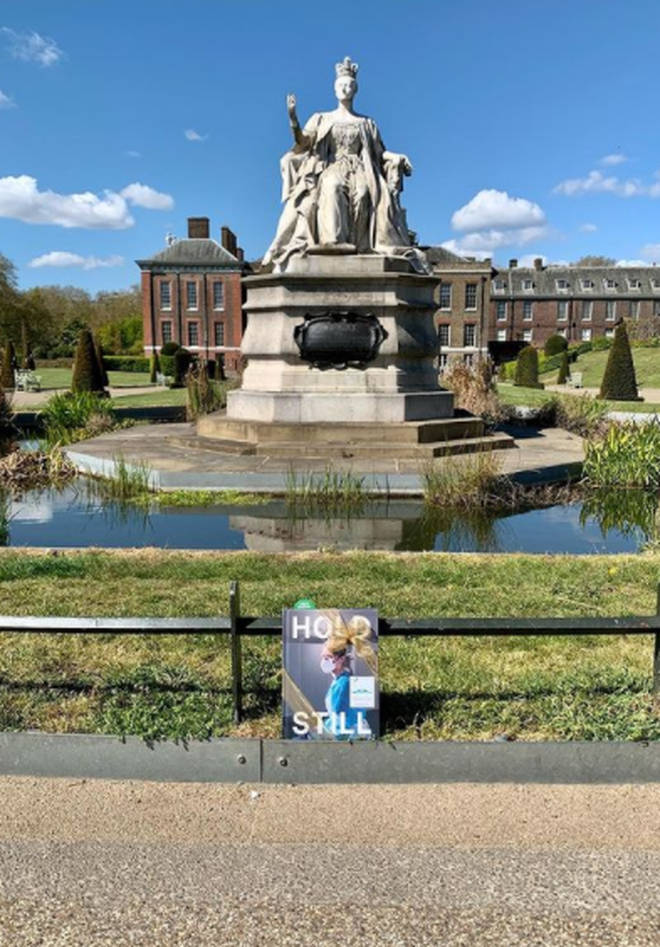 Copies of Hold Still have been placed across the UK for the public to find