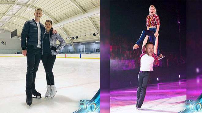 Dancing On Ice partners are already practising on the ice!