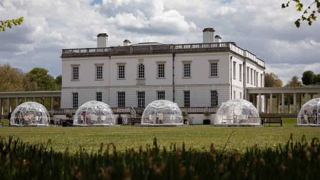 You can dine in a pod in the Queen's House