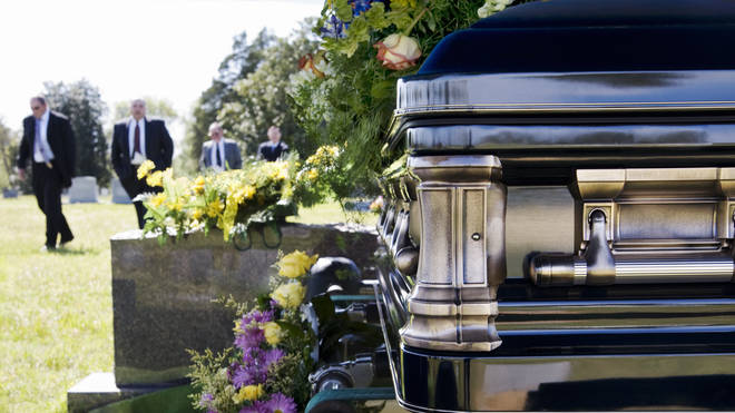 Boris Johnson is set to announce future changes to funeral rules later today (stock image)