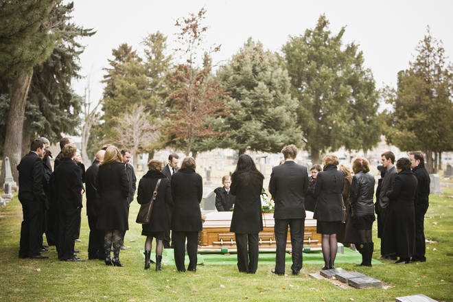 Currently, only 30 people are allowed to attend funerals in England (stock image)
