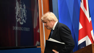 Boris Johnson confirmed the changes while speaking at the Downing Street press briefing