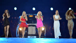 Spice Girls performing at the 2012 Olympics