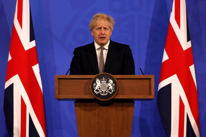 Boris Johnson announced the new lockdown easing