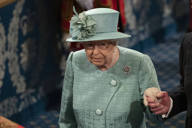 The Queen is making a speech in Parliament today