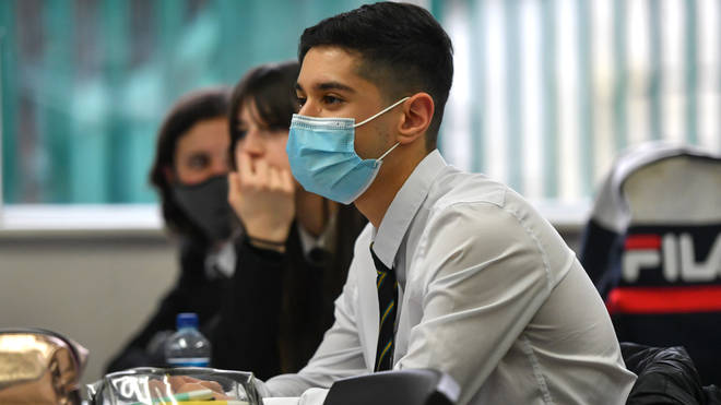Secondary school students are currently asked to wear face coverings in classrooms
