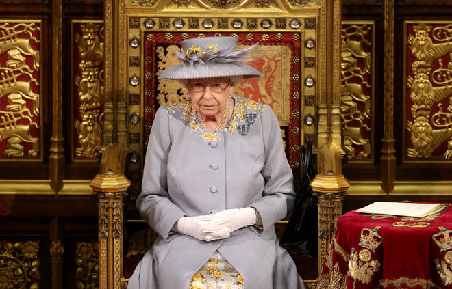 The Queen spoke in the House of Lords during the State Opening of Parliament