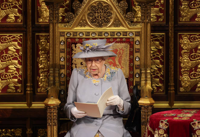 The Queen usually wears full ceremonial robes for the State Opening