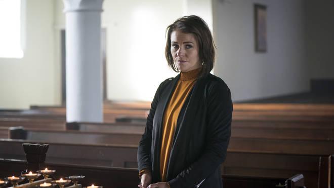 Kerri Quinn plays Louise in Three Families