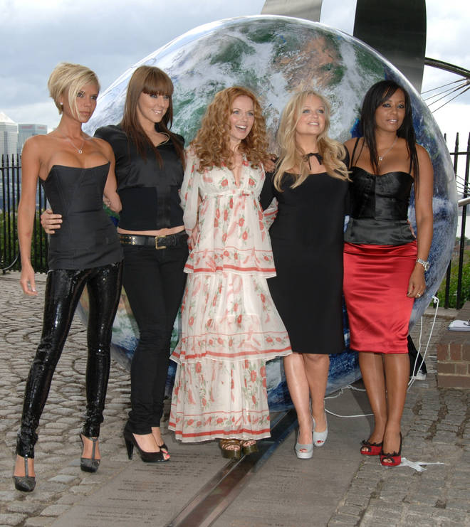 The first time Geri was pictured back in the group for the tour announcement