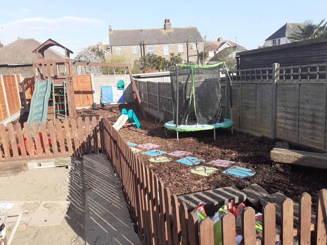 The garden has now been transformed