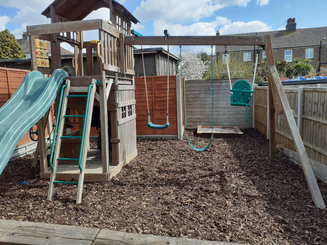 The couple created an amazing play area for their two kids