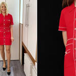 Holly Willoughby is wearing a dress from Maje Paris