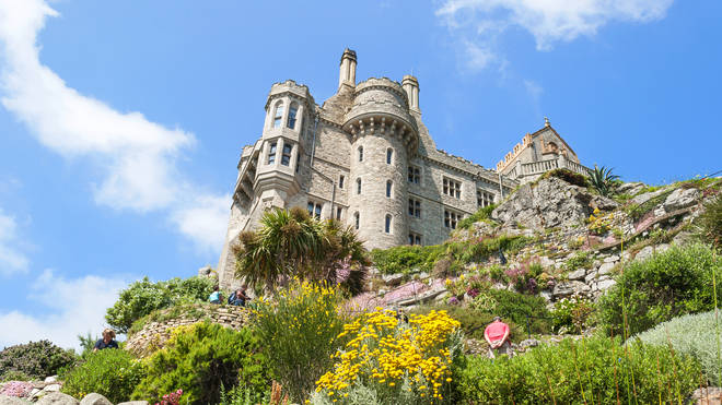 St Michael's Mount is just off the coast of Cornwall