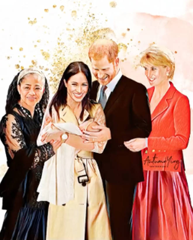 Princess Diana joins Meghan, Harry and Doria as they celebrate the birth of Archie