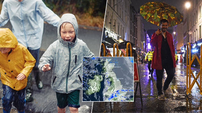 It's set to be a washout weekend for Brits