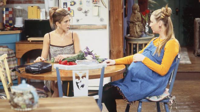 Lisa fell pregnant during season four of Friends