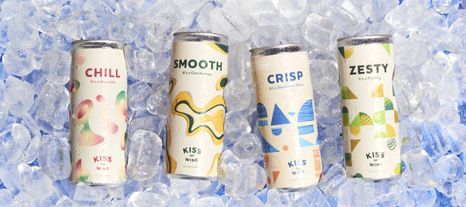 Kiss of Wine sell an incredible range of good quality canned wines