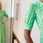 Holly Willoughby is wearing a green midi dress from Great Plains