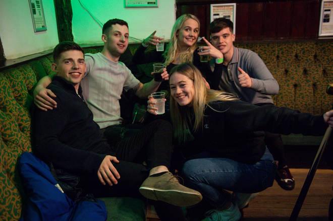 Friends gather in the Oak Inn in Coventry