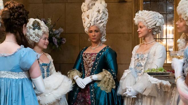 Golda Rosheuvel plays Queen Charlotte in Bridgerton