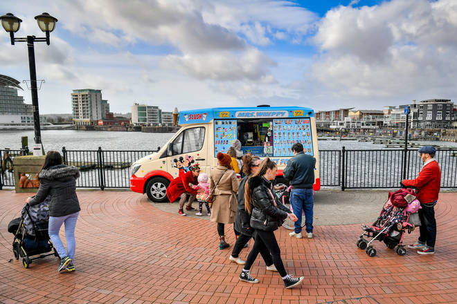 Ice cream vans are facing a shortage of 99s.