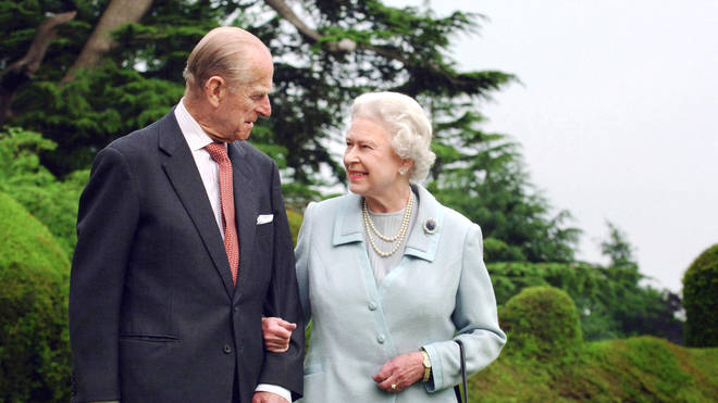 The Queen is believed to have been given the puppies from a family member when Philip was admitted to hospital