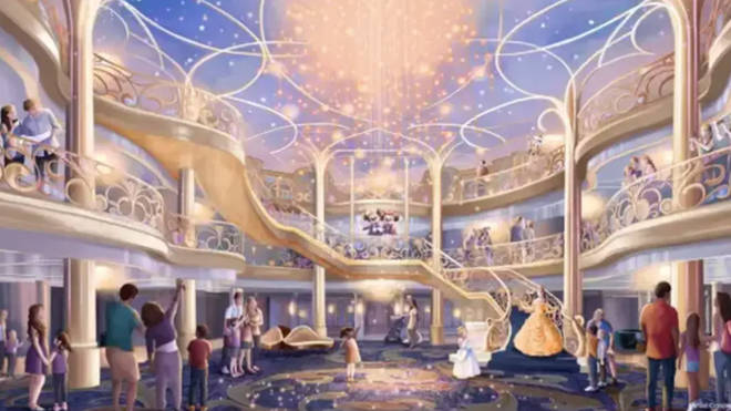 The new sneak-peek look comes just weeks after Disney released a concept image of what the Grand Hall would look like