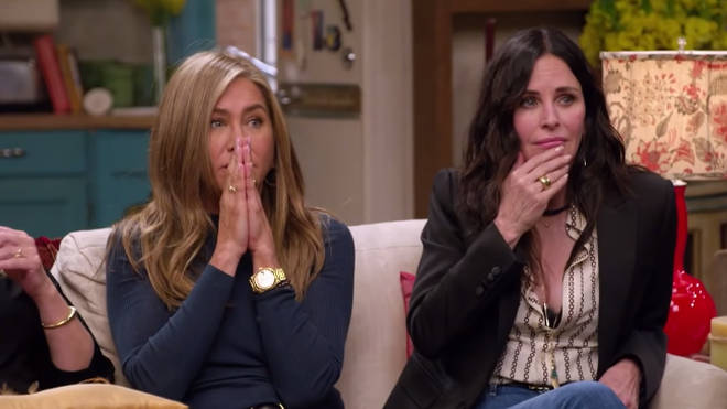 Jennifer Aniston and Courtney Cox were emotional during the reunion