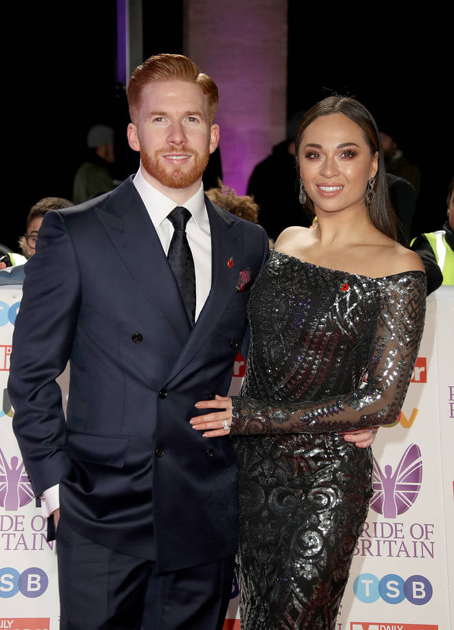 Neil and Katya Jones put on a brave face at the Pride of Britain Awards last week