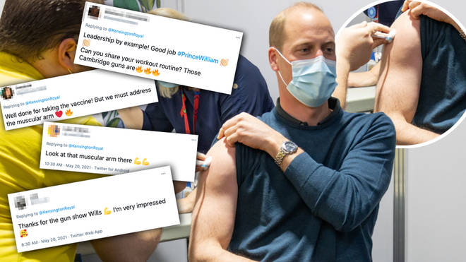 Prince William's vaccine picture had everyone saying the same thing