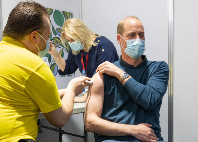 Prince William received his Covid-19 vaccine this week after the jab was rolled out to 34+
