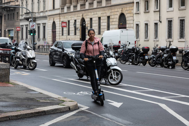 E-scooters can reach up to 15.5mph and, like bikes, do not require any license or training to use them