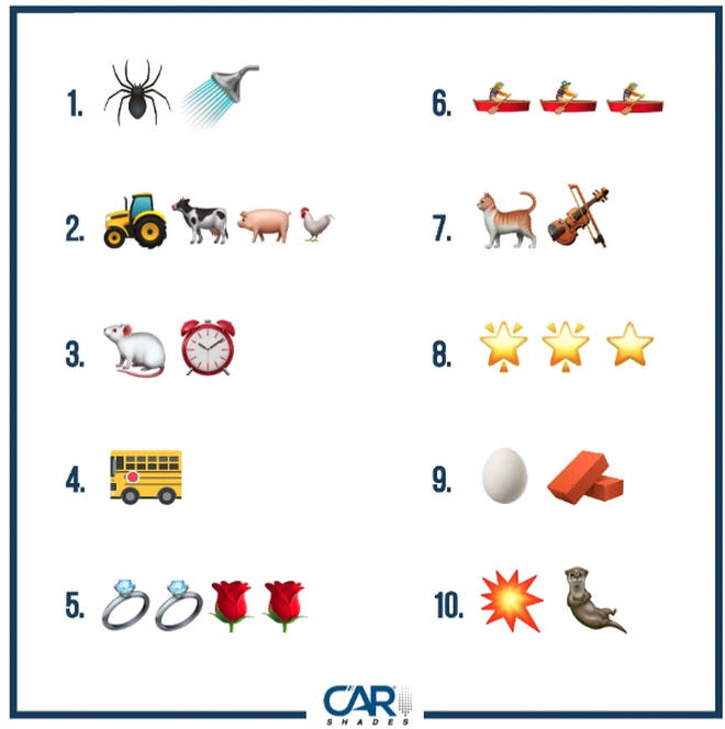 Can you identify the kids' nursery rhymes?