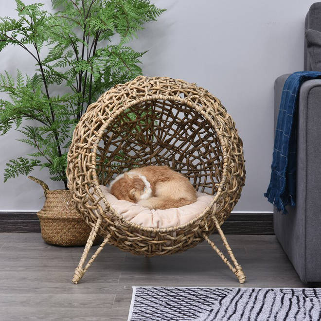 Wayfair is also selling a similar wicker basket for cats