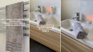 A woman from Australia has claimed we should wash hand towels every day