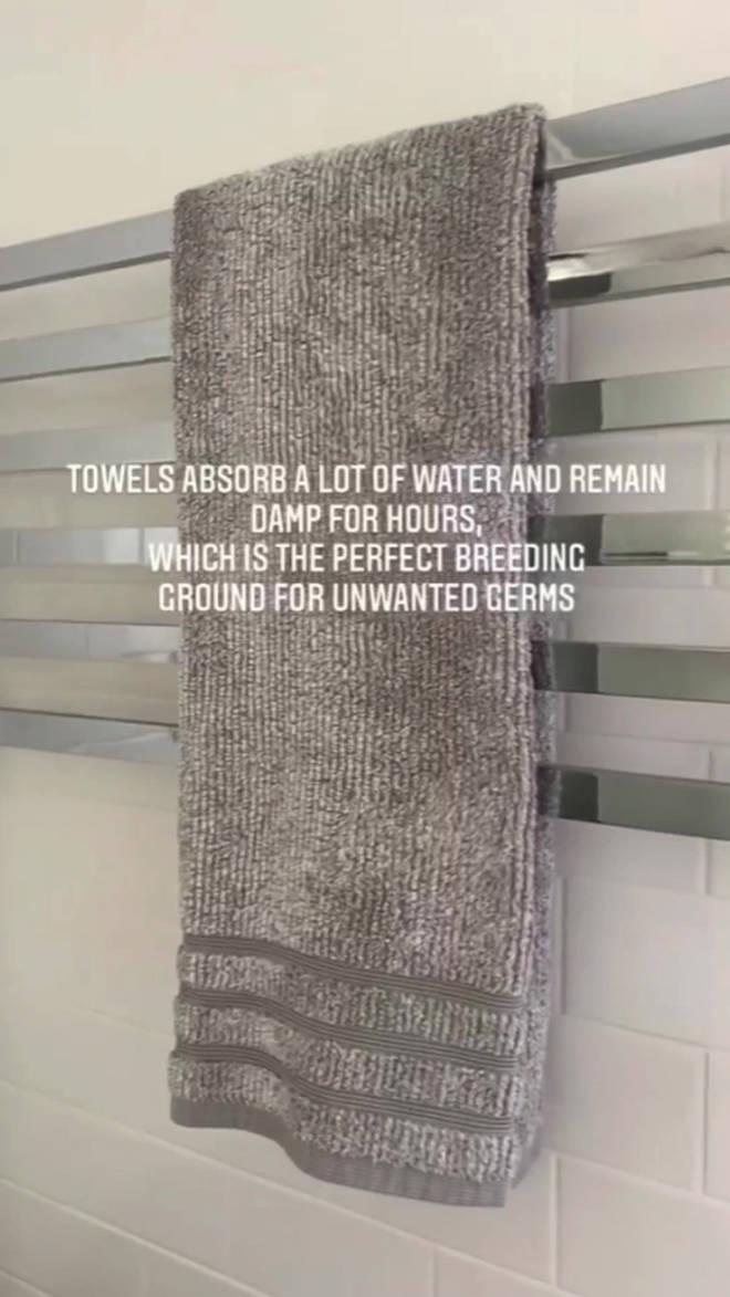 Liz said that hand towels should be washed every day