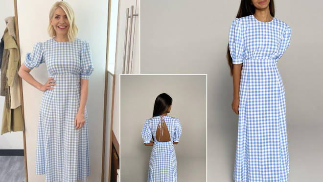 Holly Willoughby is wearing a dress from Franks London