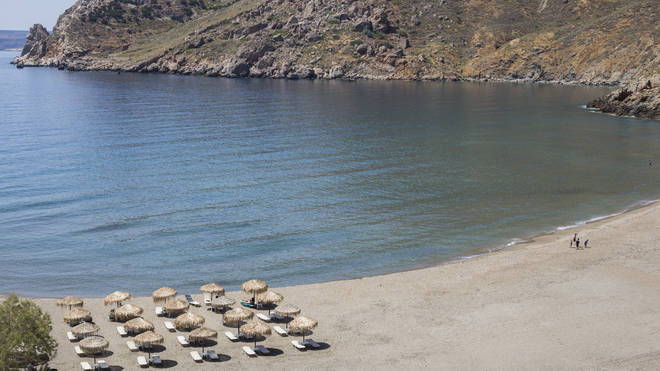Sun loungers must be four metres apart on Greek beaches