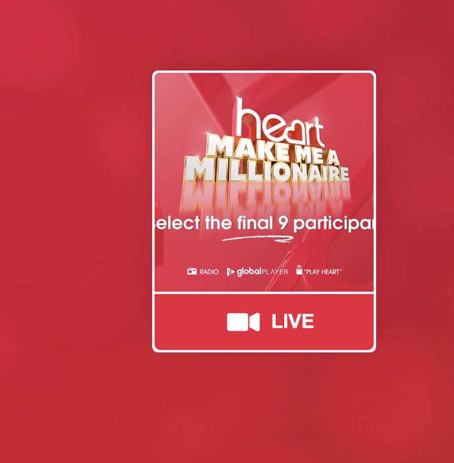 Look out for this icon on Global Player to watch the live stream of the final