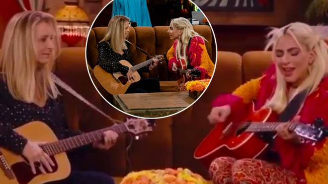Lady Gaga performed during the Friends Reunion