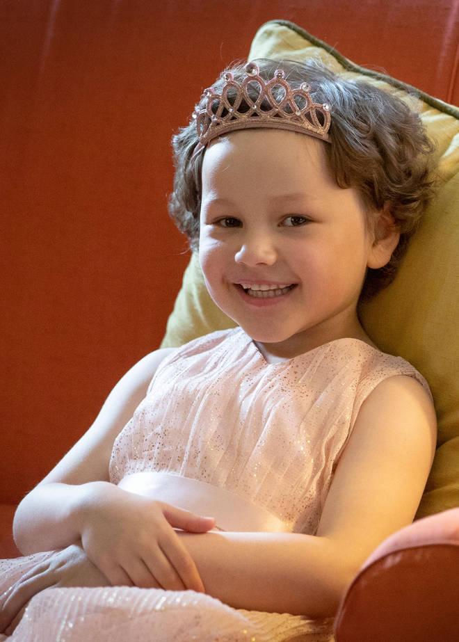 Mila, 5, has been undergoing chemotherapy for leukaemia