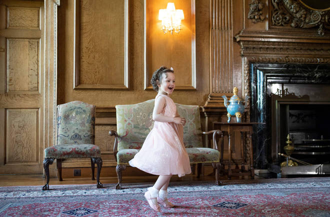 Mila was excited to show off her own princess dress to Kate Middleton