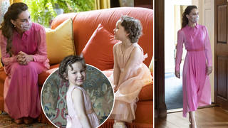 Kate Middleton fulfils promise to little girl with cancer by dressing in 'pink princess' dress