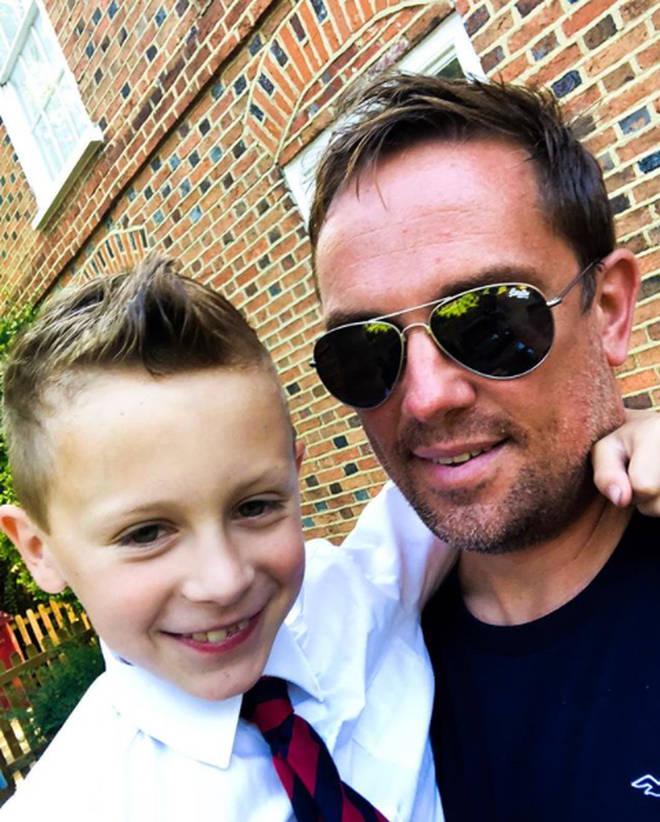 Simon Thomas and his son, Ethan