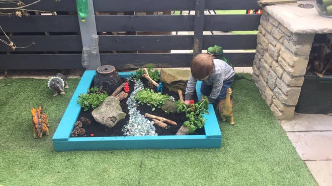 She created the space for her son, who is a big fans of dinosaurs